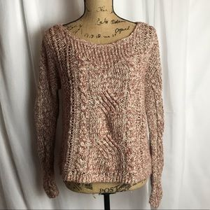 Free People Chunky Cable Knit Pullover Sweater